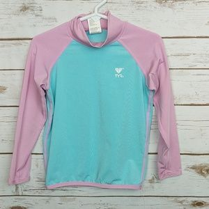 TYR Girls Pink/Blue Swim Shirt size 5T